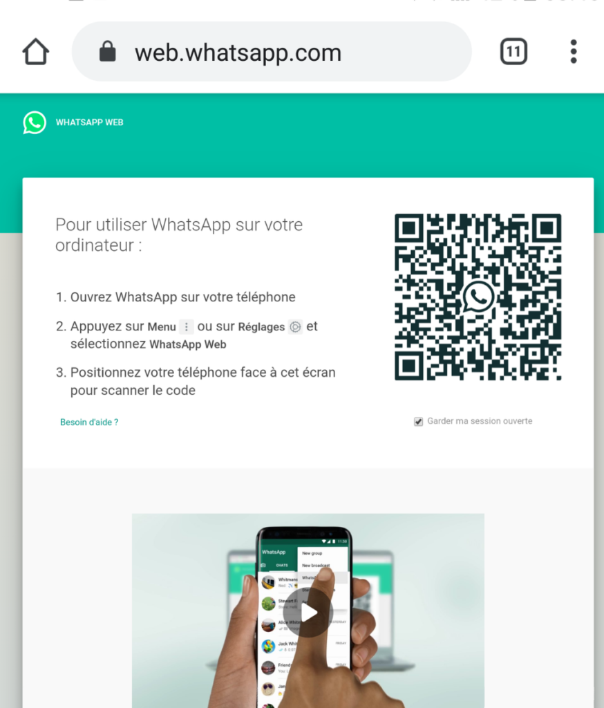 whatsapp web chrome