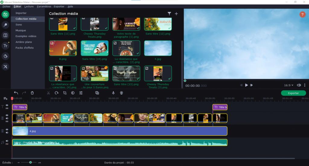 movavi slide show screenshot